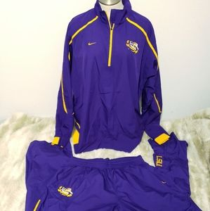 NIKE LSU Authentic Track Suit